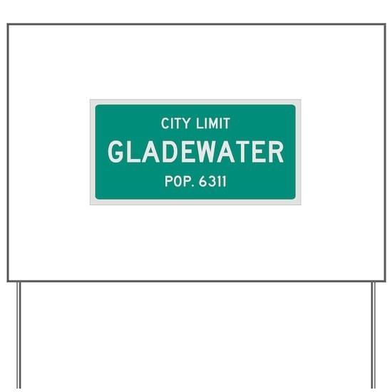 Gladewater, Texas City Limits Yard Sign