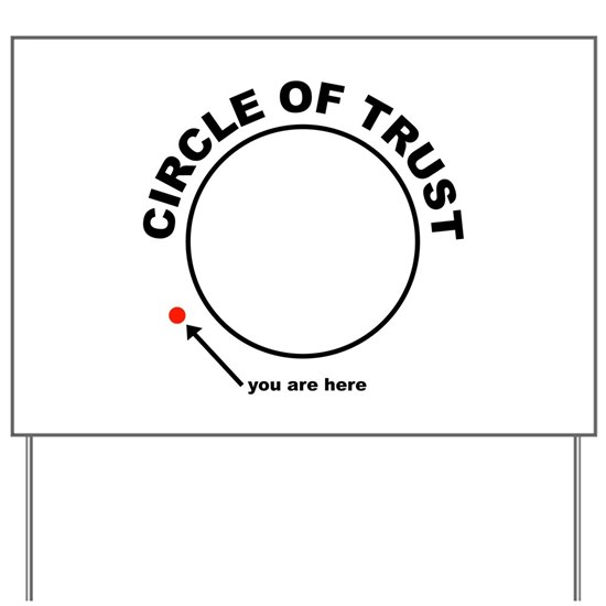 85da8502e8d556 Circle of Trust Yard Sign by ScooterBaby - CafePress