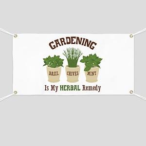 Herbal Remedies Banners Cafepress