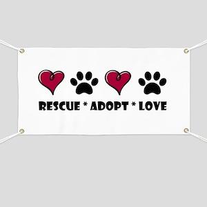 Dog Adoption Banners Cafepress