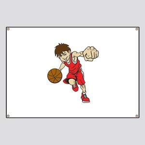 BASKET BOY RED Banner