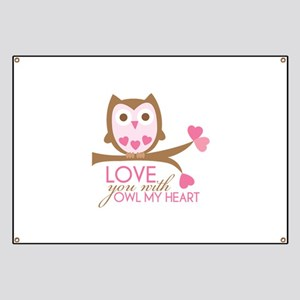 Love You With OWL My Heart Banner