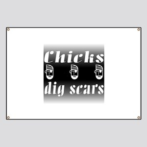 Chicks Dig Scars and Pirates Banner