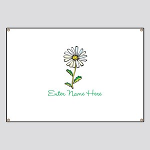 Personalized Daisy Banner