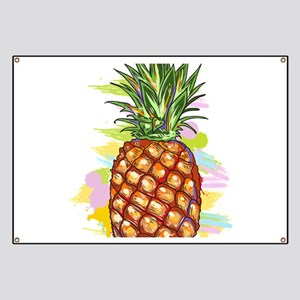 Cute PineApple Illustration Banner