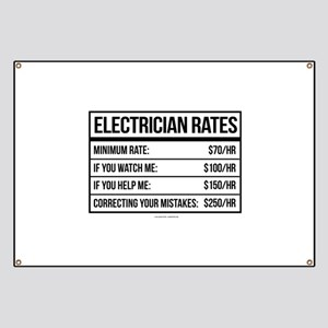 Electrician Rates Humor Banner