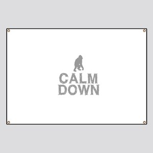 Calm Down. Grey Monkey Design Banner
