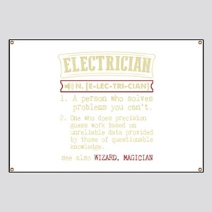 Electrician Funny Dictionary Term Banner