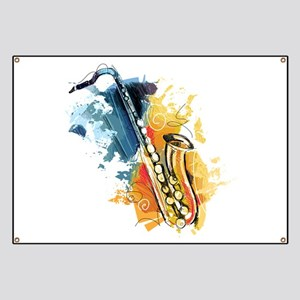 Saxophone Painting Banner