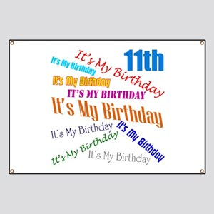 11th Birthday Banner