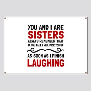 Sisters Laughing Banner