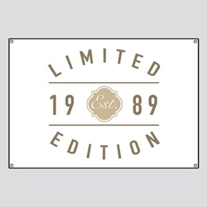 Est. 1989 Limited Edition Banner