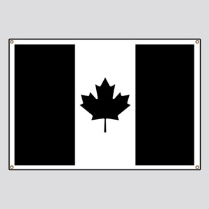 Canada: Black Military Flag Banner