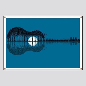 Trees sea and the moon turned guitar Banner