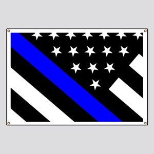 Police Flag: Thin Blue Line Banner