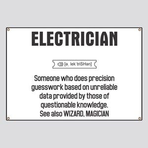 Funny Electrician Definition Banner