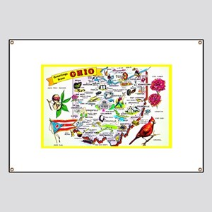 Ohio Map Greetings Banner