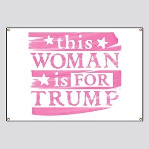 Woman for TRUMP Banner