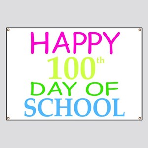 Happy 100th Day of School Teacher Student 1 Banner