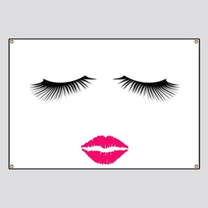 Lipstick and Eyelashes Banner