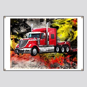 Big Truck - Red and Chrome Banner