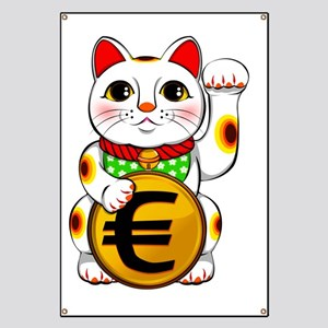 Euro Lucky Cat Maneki Neko Banner