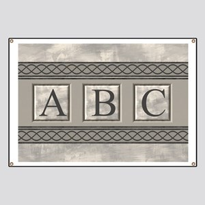 Personalizable Marble Monogram Banner