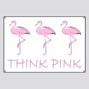 Breast cancer flamingo Banner