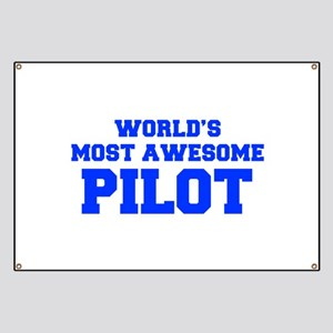WORLD'S MOST AWESOME Pilot-Fre blue 600 Banner
