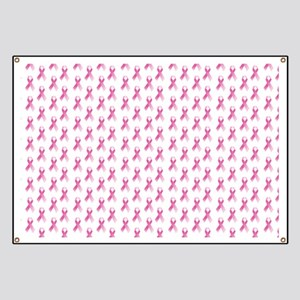 Breast Cancer Awareness Pink Ribbon Banner