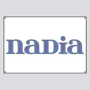Nadia Blue Glass Banner