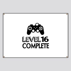Level 16 Complete Birthday Designs Banner