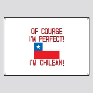 Of Course Im Perfect Im Chilean Banner
