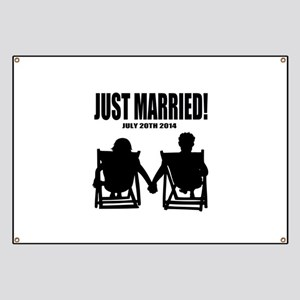 Just Married | Personalized wedding Banner