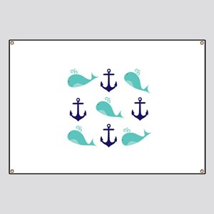 Whales and Anchors Banner