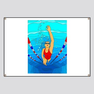 Woman swimming Banner