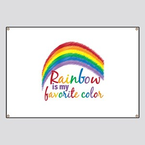 Rainbow Favorite Color Banner