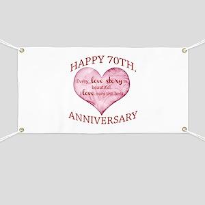 70th Wedding Anniversary.70th Wedding Anniversary Banners Cafepress