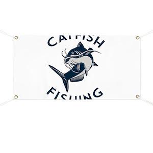 Catfish Fishing Gift for Men Fisherman Gift Banner