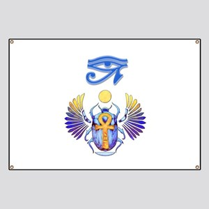Scarab Egyptian Art Banner