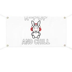 K-Pop Rabbit and Chill Design for KPop Fans Banner