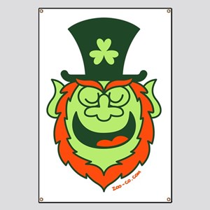 St Paddy's Day Leprechaun Speaking Banner