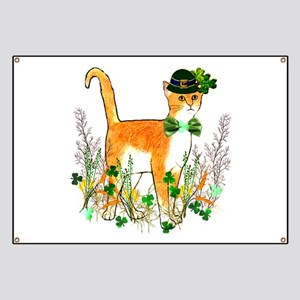 St. Patrick's Day Cat Banner
