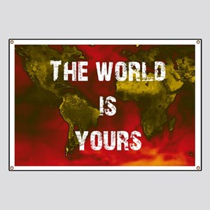Scarface The World Is Yours Banners - CafePress on red river world map, guy world map, saigon world map, jurassic park world map, morocco world map, conan the barbarian world map, juarez world map, future world map, casino world map, detailed world map, tobruk world map, nivea world map, lord of the rings world map, wolf world map, city lights world map, algiers world map, simpsons world map,