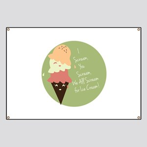 Funny Ice Cream Slogans Banners - CafePress