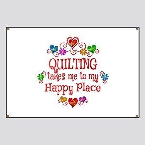 Quilting Happy Place Banner