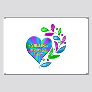Quilting Happy Heart Banner
