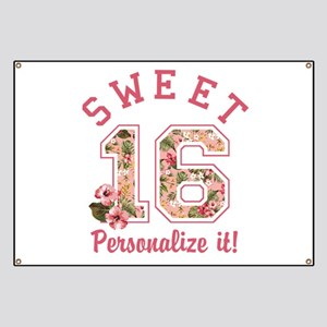 PERSONALIZED Sweet 16 Banner