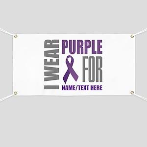 800563b303a Purple Awareness Ribbon Customized Banner
