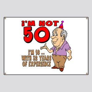 Funny 50th Birthday Sayings Banners